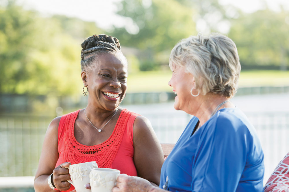 Residents enjoying the lifestyle at The Cottages of New Lenox